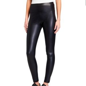 7 For All Mankind   High Rise Faux Leather Legging